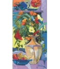 Janin - Bouquet à la théière bleue - 60x120cm