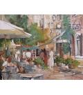 Janin - Les cafés de Lourmarin - 92x73cm