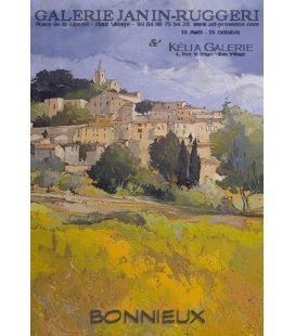 Bonnieux from lowland