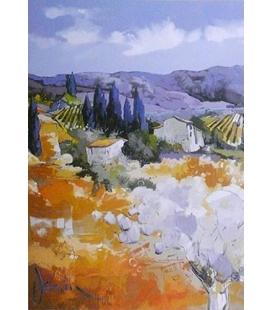 Janin - Panorama au Lubéron mauve