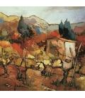 Janin - Le roux des vignes - 50X50cm