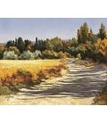 Ruggeri - A l'ombre des grands cyprès - 46x38cm